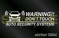 アトリエDOM セルボHG21S用 セキュリティーステッカー 3枚セット (内貼りタイプ) [受注生産] セキュリティ ステッカー