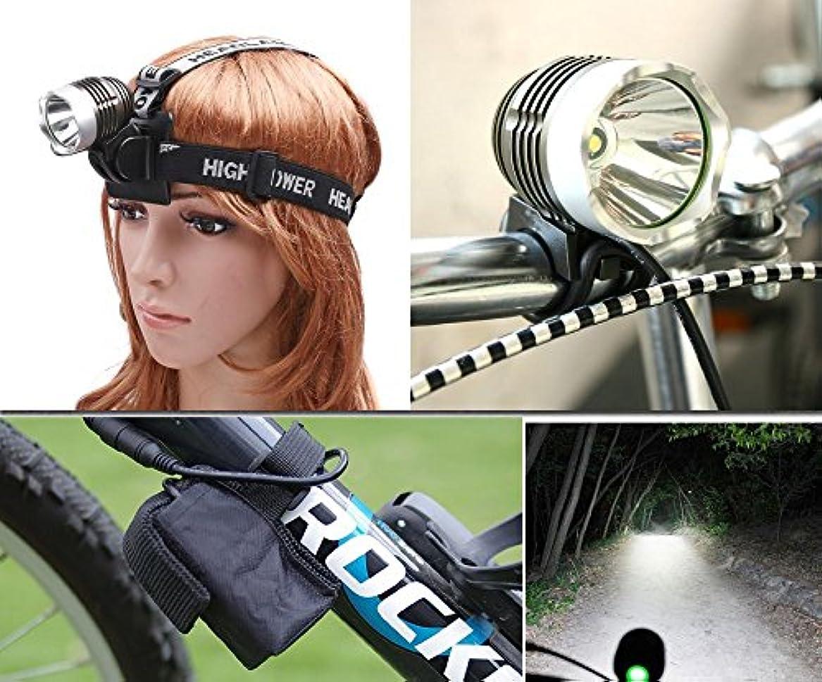 リズミカルなメイエラつまずくEplze 1800LM 充電式 防水 自転車バイクライト CREE 6 LEDヘッドランプ