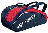 ヨネックス(YONEX) ラケットバック6 (リュック付き、テニス6本用) ネイビー×レッド BAG1632R