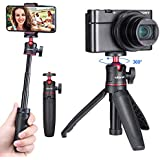 ULANZI MT-08 Extension Vlog Tripod Stand Handle Grip for iPhone 11 Pro Max Samsung OnePlus Google Smartphone Canon G7X Mark III Sony RX100 VII A6400 A6600 Compact Cameras Vlogging