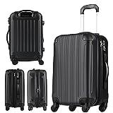 スーツケース(LEGEND WALKER:レジェンドウォーカー)SSサイズ(1泊 2泊 3泊)ファスナー機内持込サイズ ブラック 5082-48-BK 画像