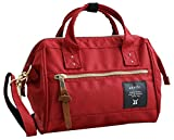 (アネロ) ミニショルダーバッグ 斜めがけ 口金入り 硬め ポリキャンバス素材 鞄 レディース ナイロン