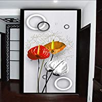 Lixiaoer カスタム壁壁画壁紙現代のファッションタンポポの花3Dロビーインテリアリビングルームの入り口廊下の装飾壁絵画-200X140Cm
