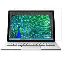 ATiC Microsoft Surface Book 13.5インチ(2015)タブレット専用強化ガラス液晶保護フィルム。 表面硬度9H/2.5Dラワンド処理/耐衝撃/高透明度/指紋防止/気泡ゼロ(一枚) 透明