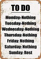 なまけ者雑貨屋 Nothing to Do List. ガレージ サインボード ビンテージ 看板 インテリア アート デザイン ボード 40×30cm