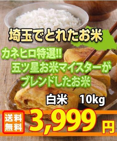 29年産 埼玉県産 白米 ブレンド米 10kg (5kg×2) 埼玉でとれたお米 (未検査米)