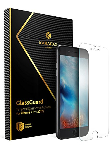 Anker KARAPAX GlassGuard iPhone 8 Plus / 7 Plus 用 強化ガラス液晶保護フィルム【3D Touch対応 / 硬度9H / 飛散防止】 A7479001