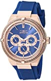Invicta Women's Bolt Blue Silicone Band Steel Case Quartz Analog Watch 28912