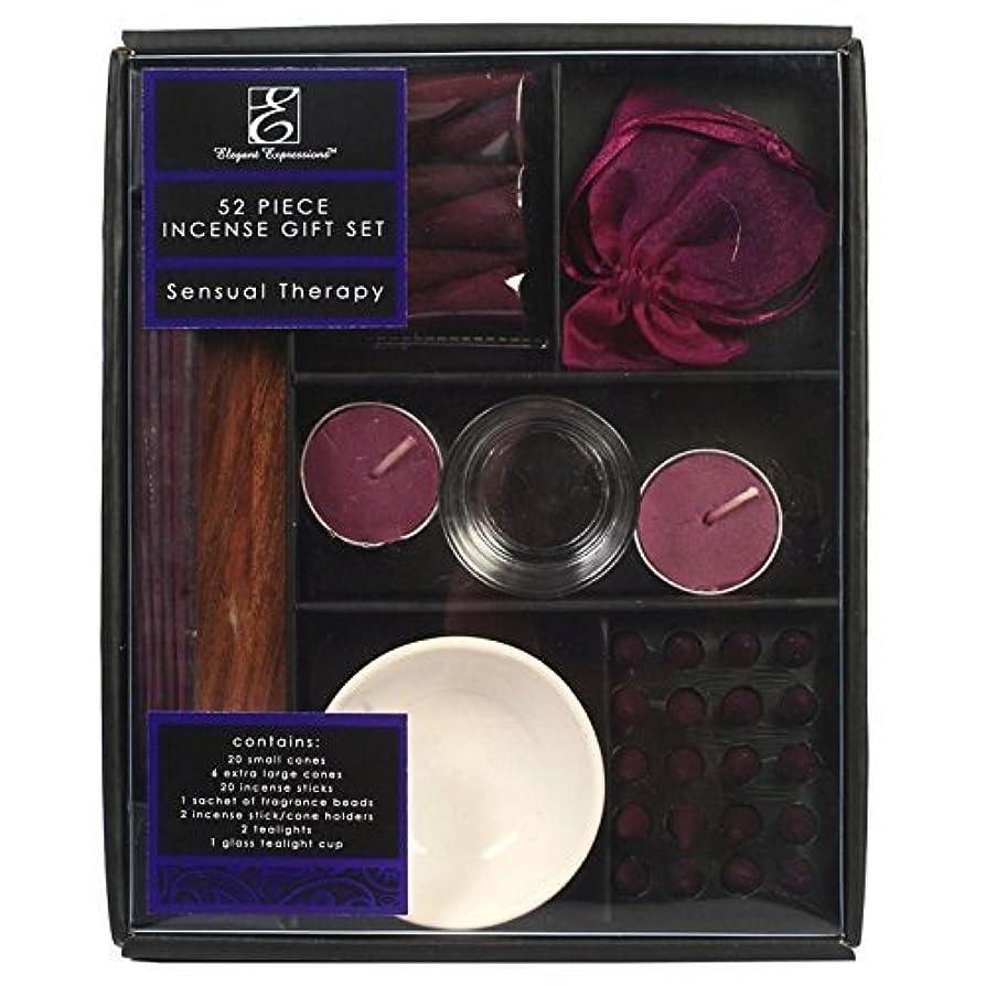 放棄されたランドマークレガシーHosley Incense Gift Set 52 pc - Sensual Therapy by Elegant Expressions [並行輸入品]