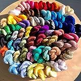 タッセル用糸(カセ) タッセル用パーツ 64色から選べるアクリルカラー糸(カセ) <6272>(色番1~32)アクリルカセ 色番24(strong violet)