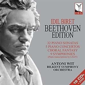 イディル・ビレット:ベートーヴェン・エディション(Beethoven - 32 Piano Sonatas/5 Piano Concertos/Choral Fantasy/9 Symphonies)[19CDs+DVD]