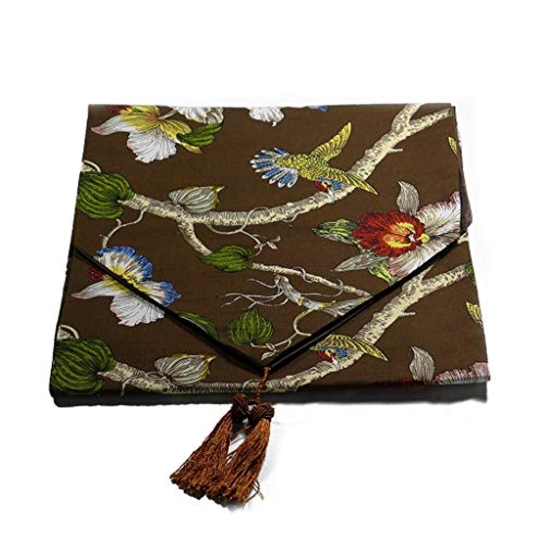 植物の花 テーブルランナー ホームデコレーション タッセル 豪華 工芸品 おしゃれ 長方形 エレガント 33X200/40X260CM (Color : Brown, Size : 33X200CM)