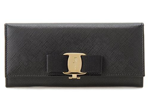 Salvatore Ferragamo(サルヴァトーレ フェラガモ) 長財布 リボン 22 B559 588260 ネロ ブラック レディース (並行輸入品)