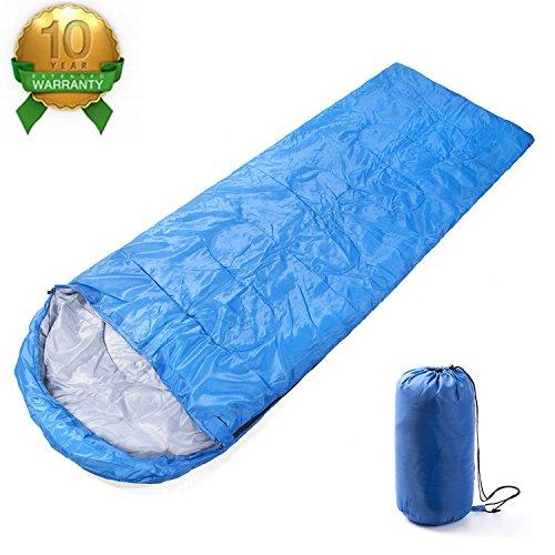 寝袋 スリーピングバッグ 軽量 封筒型 折りたたみ式 簡単収納 快適使用温度5~20度 耐寒 収納袋付き アウトドア/登山/車中泊