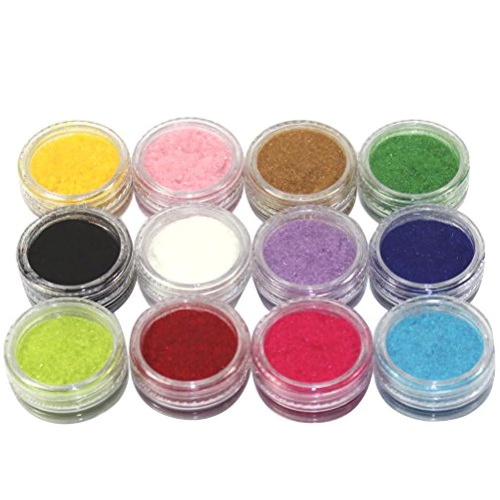 純正ブルーベルあらゆる種類の(メイクアップエーシーシー) MakeupAccネイルアートDIY ふわふわベロア調ネイルベルベットパウダー フロッキーパウダー ネイルデコセット 12色入り ネイルパーツ コンテナケース付き [並行輸入品]