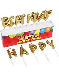 Birthday キャンドル 金色 お誕生日 ハッピー バースデー