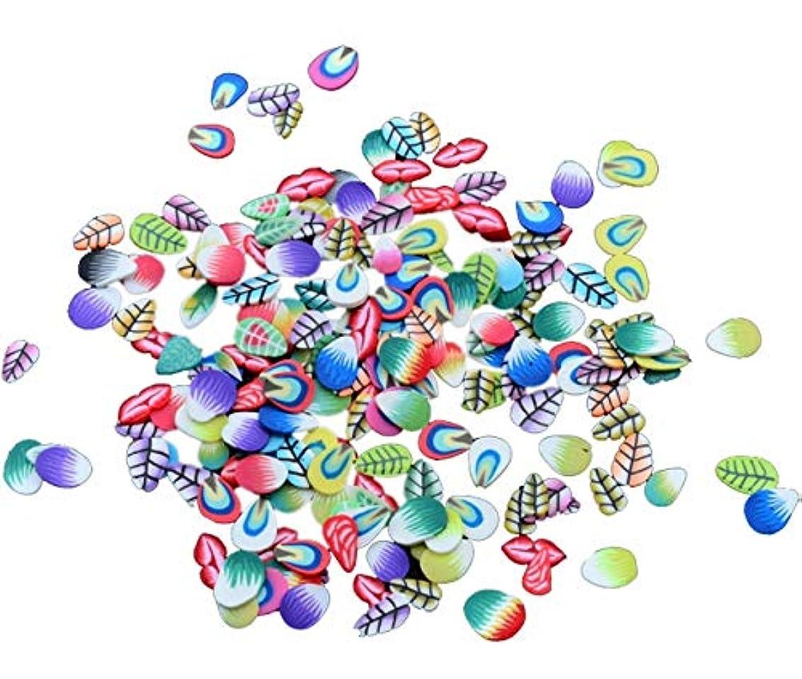 フルーツ野菜割合内向きTianmey ソフト陶磁器デザインネイルアートステッカーマニキュア美しいファッションアクセサリー装飾DIYモバイル美容パッチ千個 (Color : Feather)