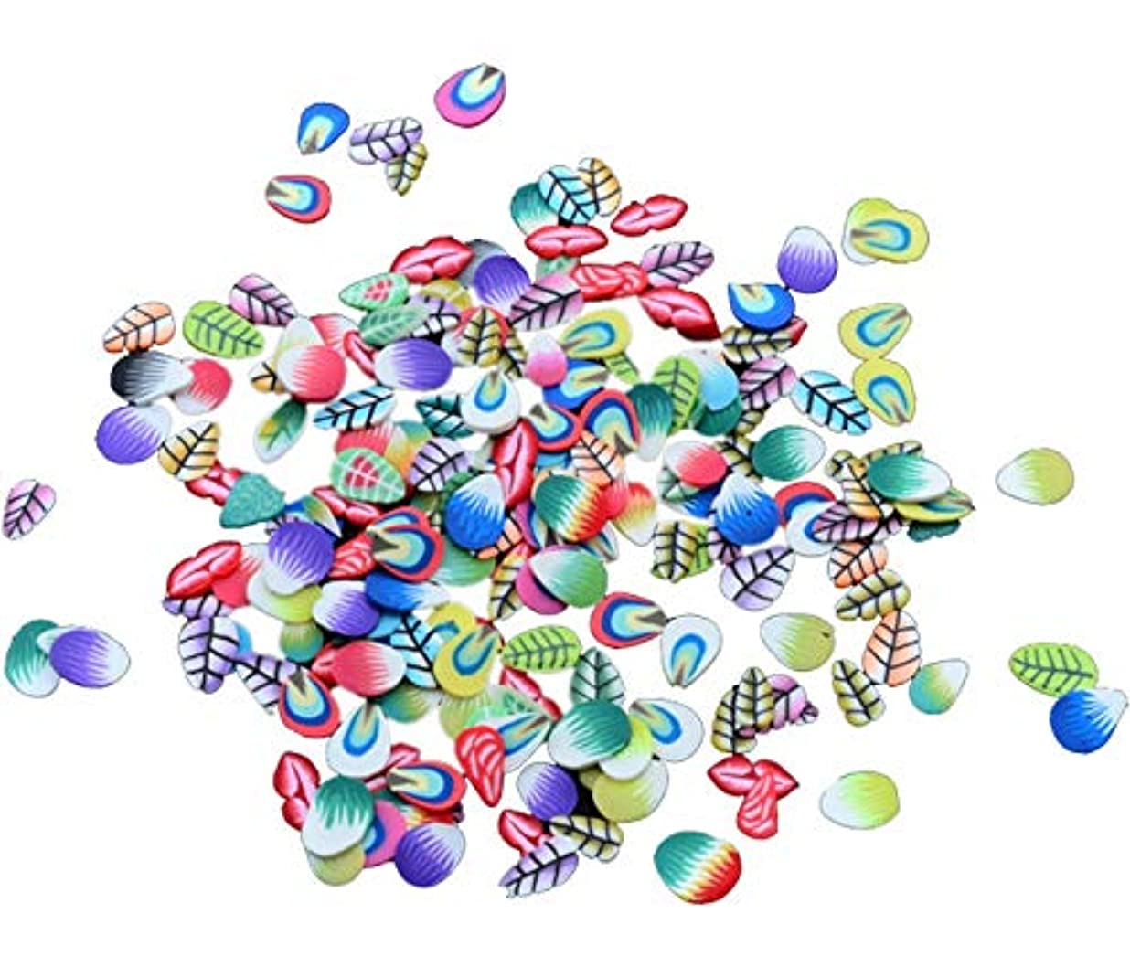 望み郵便屋さんファンネルウェブスパイダーTianmey ソフト陶磁器デザインネイルアートステッカーマニキュア美しいファッションアクセサリー装飾DIYモバイル美容パッチ千個 (Color : Feather)