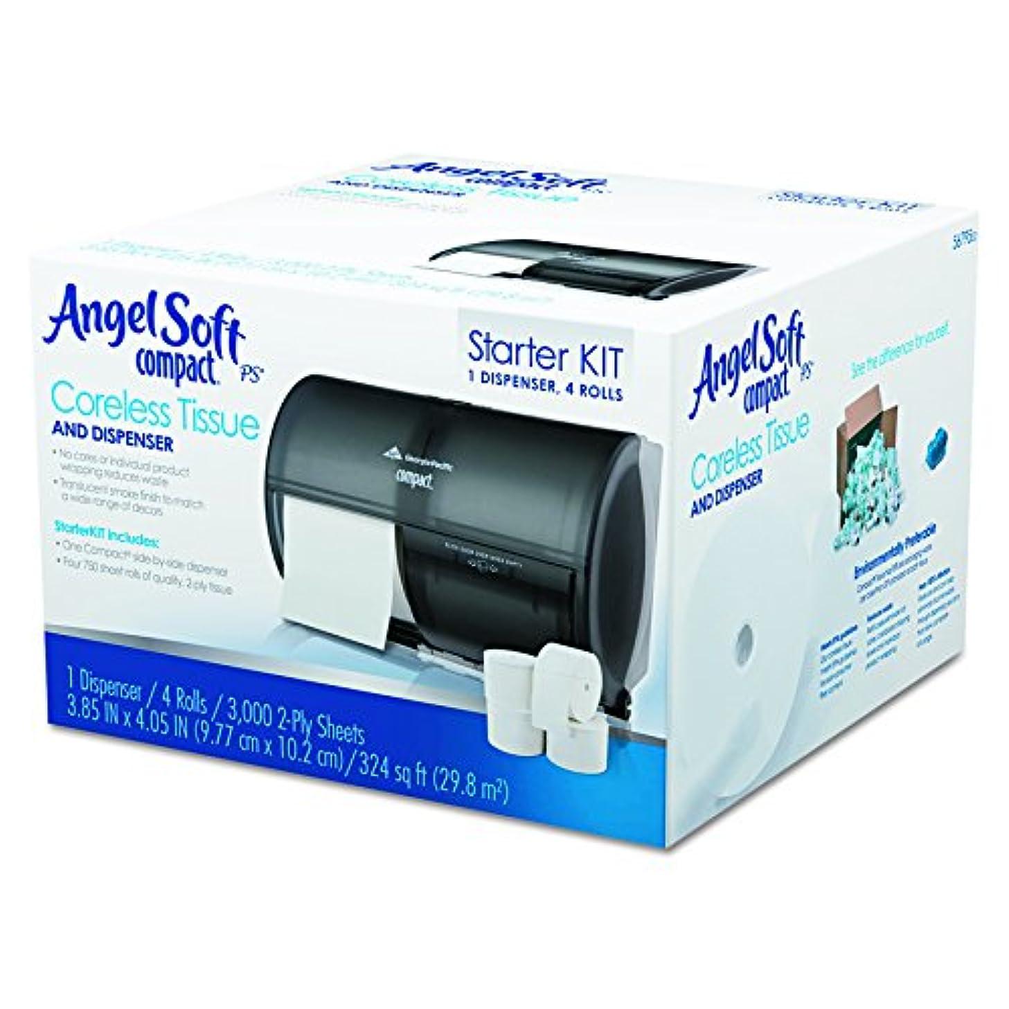 おじさん主人記念品Georgia Pacific 5679500 Tissue Dispenser and Angel Soft ps Tissue Start Kit, 4 750- Sheet Rolls
