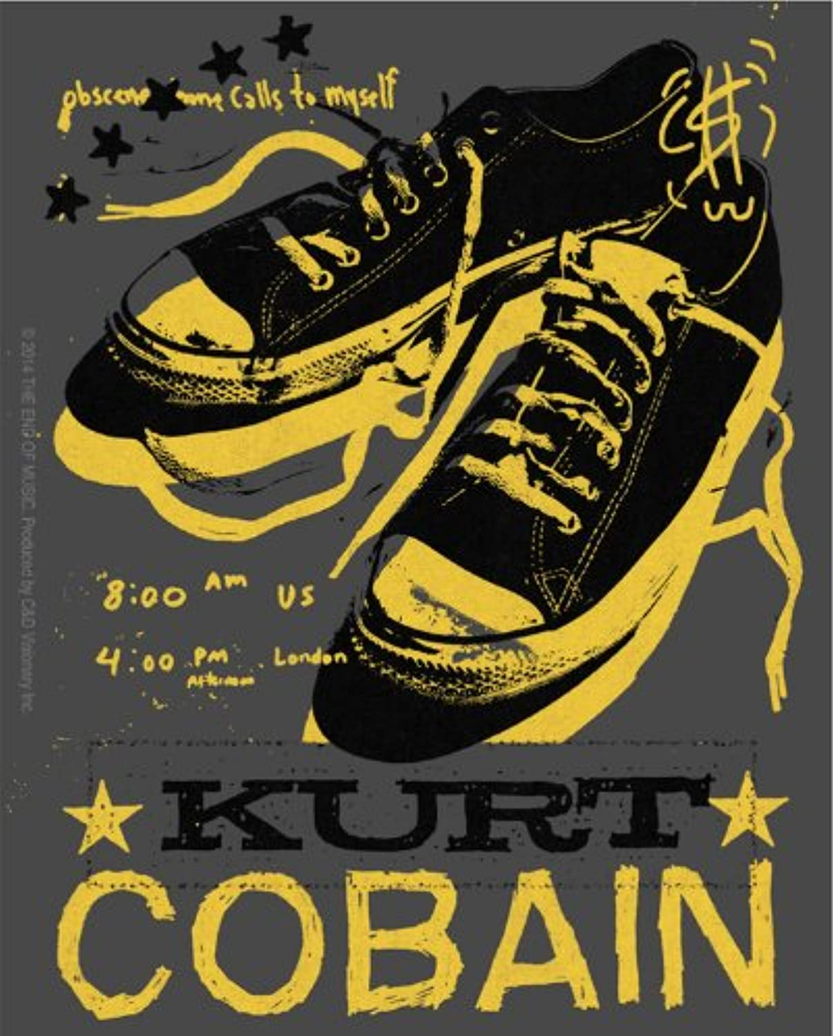 Licences Products Kurt Cobain Tennis Shoes Sticker