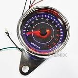 5303 LED タコメーター 電気式 13000rpm 黒/メッキ 12V 配線説明有り モンキー ゴリラ APE DAXなど 汎用