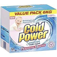 Cold Power Sensitive Pure Clean, Powder Laundry Detergent, 6 Kilograms