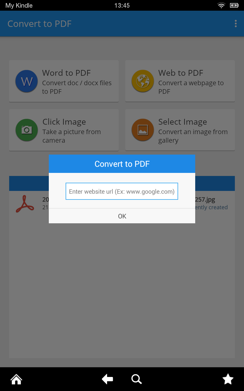 converting ebook to pdf android