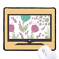 パンチ・花・植物塗料 マウスパッド・ノンスリップゴムパッドのゲーム事務所
