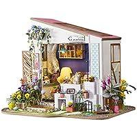 PETFORU 手作りキットセット 3D DIY 木製 人形屋 クラフト 組み立て 女の子 子供用 おもちゃ 忍耐力 実践力 想像力 人気 プレゼント