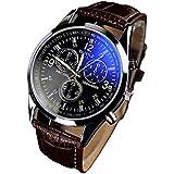 ZooooM ブルー 青 文字盤 腕時計 メンズ 男性 クロノグラフ レザー 革 クロコ 型押し ベルト カジュアル ビジネス フォーマル オリジナル クロス 付 ZM-AOCLO