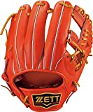 ZETT(ゼット) 野球 軟式 グラブ (グローブ) プロステイタス セカンド・ショート 右投用 ディープオレンジ×オークブラウン(5836) LH BRGB30820