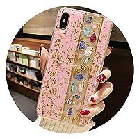 新しい高級ゴールド箔キラキラ大理石電話ケースのためのiphone xr x xsマックスのためのソフトtpuカバーiphone 7 8プラス6 6 sのためのキラキラケース、ブルー、iphone 6 sのために,ピンク,iPhone 6s Plus用