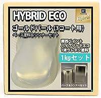 コスト削減に!レタンPG ハイブリッド エコ ゴールド パール(3コート用)1kgセット (シンナー付)/自動車用 1液 ウレタン塗料 関西ペイント (1)