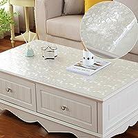 QQ Pvc防水透明テーブルクロスコーヒーテーブルテーブルテーブルテーブルホットスチール長方形のクリーニング ( 色 : B , サイズ さいず : 100*100cm )