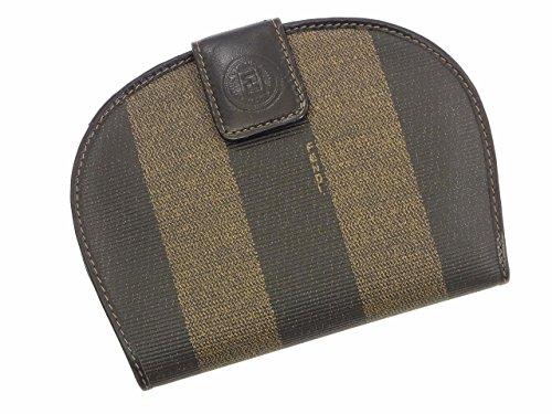 [フェンディ] FENDI 二つ折り財布 ペカン レザー X10382 中古