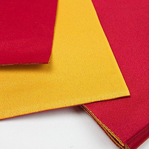 (キョウエツ) KYOETSU 日本製 半幅帯 袴下帯 浴衣帯 リバーシブル 無地 (赤×黄)
