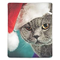 低反発マウスパッド 猫のクリスマス帽子マグカップ