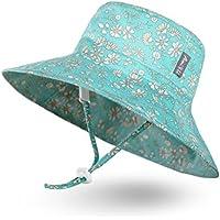 Ami&Li tots Unisex Child Adjustable Bucket Sun Protection Hat for Baby Girl Boy Infant Kids Toddler UPF 50