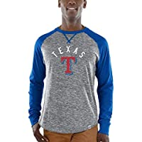 Majestic Majestic Texas Rangers Gray/Royal Special Move Long Sleeve T-Shirt スポーツ用品 【並行輸入品】