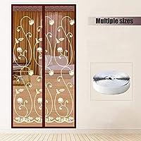 磁気スクリーン ドア フランス語ドア用,強化 メッシュ カーテン 下フル フレーム Velcro バグに昆虫を光らせる 蚊帳のフライ-D 85x210cm(33x83inch)