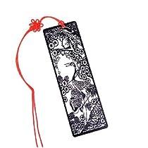 松鶴  紙カットスタイル ステンレス金属 しおり ブックマーク