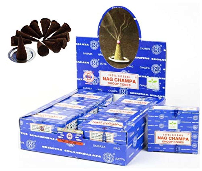 砲撃異なる相談Craftozone Satya Sai Baba Nag Champa Agarbatti 12個パック 香り