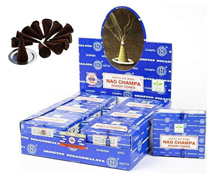 未知の出席受け継ぐCraftozone Satya Sai Baba Nag Champa Agarbatti 12個パック 香り