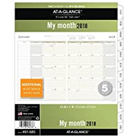 at a glance day runner monthly planner refill pages january 2018