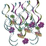B Blesiya 約16枚 渦巻き フラミンゴ 熱帯 スワールデコレーション  誕生日 パーティー 飾り付け