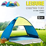 Camping Tent 2 Person Family Light Beach Pole Hiking Portable Waterproof Manual