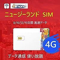 アーモンドSim[Spark] 10日間 プリペイドSIMカードニュージーランド プリペイドSIMカード4G-LTE データ通信 使い放題 プリペイドSIMカードVデータ容量300MB/日 SIM