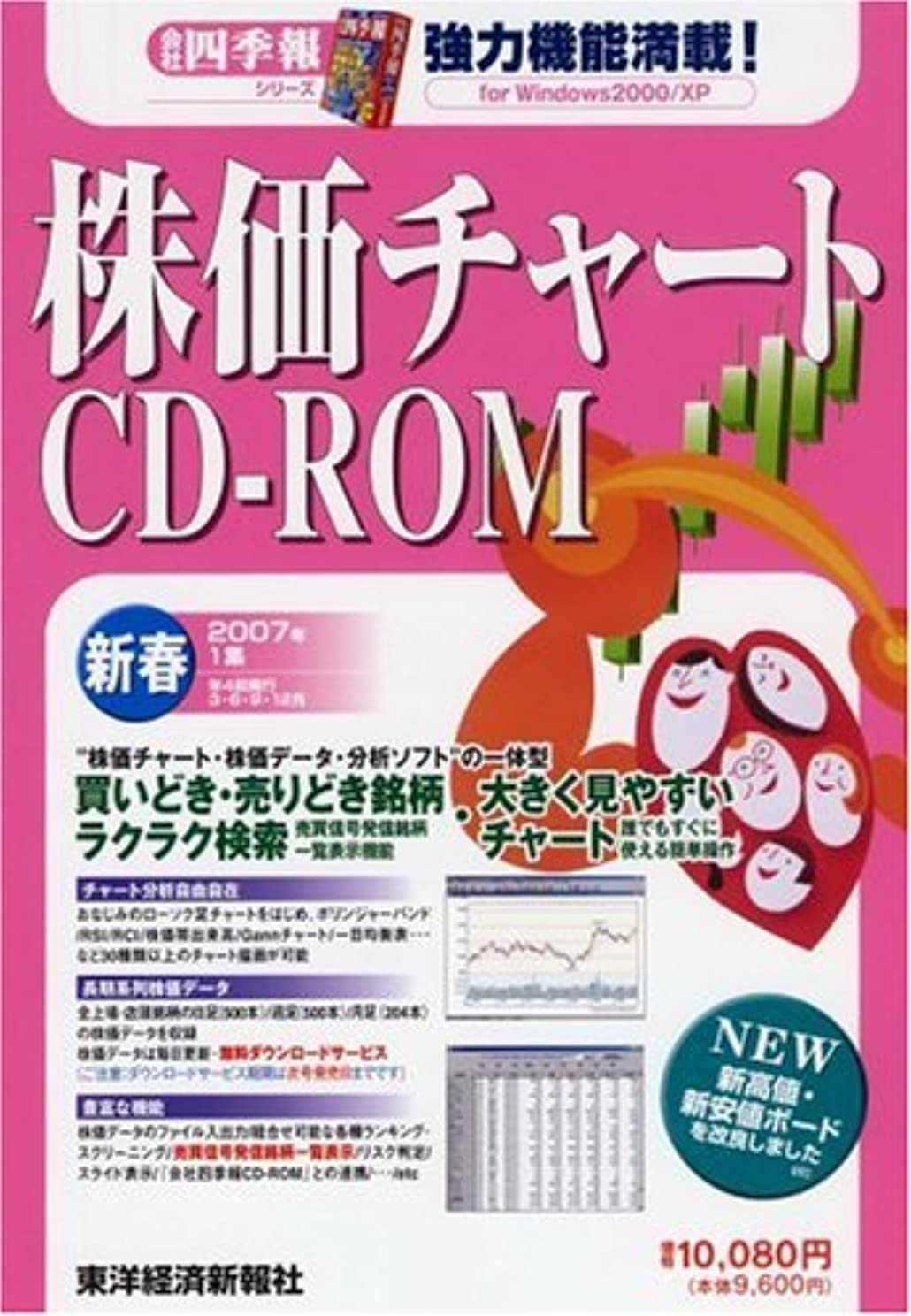 大騒ぎ影響を受けやすいです効能ある株価チャートCD-ROM 2007年 1集新春号