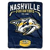 """NHL Nashville Predators NHL Inspired 60"""" by 80"""" Plush Raschel Blanket、ゴールド、60"""" x 80"""""""