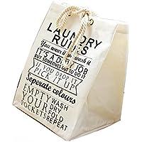 KimBerley キャンバス地 ランドリーバッグ スクエア 北欧 ストレージバスケット トートバッグ 収納 インテリア 洗濯物 ギフト プレゼント